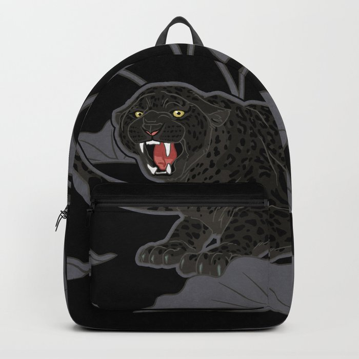Black Panthers on Black. Backpack