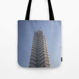 The Jose Marti Memorial, in La Havana, Cuba. Tote Bag