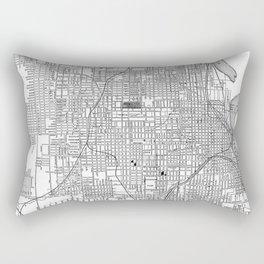 Vintage Map of Omaha Nebraska (1901) BW Rectangular Pillow