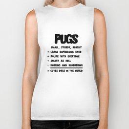 Pug Facts Dog Lover Design Biker Tank