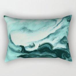 Abstract marbling mint Rectangular Pillow