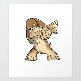 Funny Dabbing Cocker Spaniel Dog Dab Dance Art Print