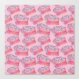 Birthday Cake - Pink BG Canvas Print