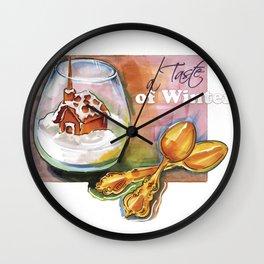 taste of winter Wall Clock