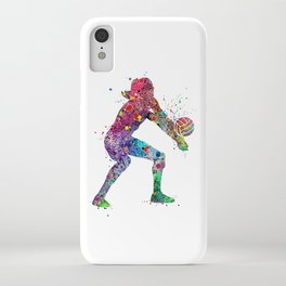 Volleyball Girl Watercolor Print Girls Room Decor Volleyball Poster Girl Volleyball Wall Art iPhone Case