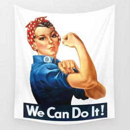 WE CAN DO IT Pop Art Wall Tapestry