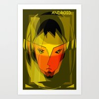 android Art Prints featuring ANDROID. by capricorn