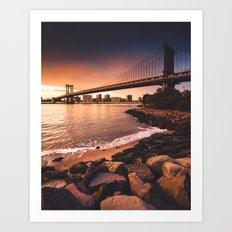 manhattan bridge in new york city Art Print