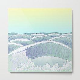 Seawall Waves Metal Print