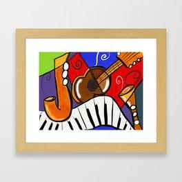 Jazzle dazzle Framed Art Print