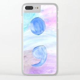 Semi Colon Clear iPhone Case