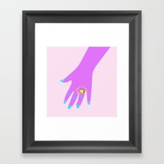 if you like it then you shoulda put a ring on it  Framed Art Print