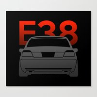 bmw Canvas Prints featuring BMW E38 by Vehicle