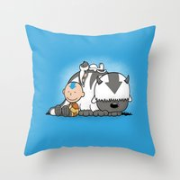 appa Throw Pillows featuring You Arrowhead! by adho1982