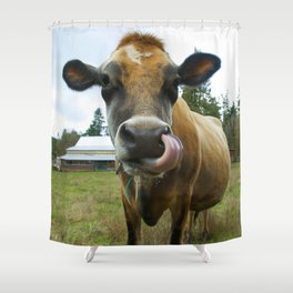 Eat Local Shower Curtain