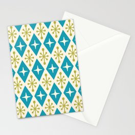 Mid Century Modern Atomic Triangle Pattern 108 Stationery Cards