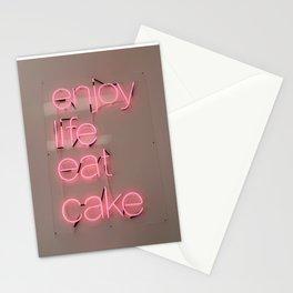 enjoy life eat cake Stationery Cards