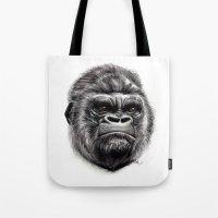 gorilla Tote Bags featuring Gorilla by Creadoorm