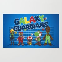 guardians of the galaxy Area & Throw Rugs featuring Galaxy of Guardians by DoodleHeadDee