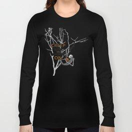 "Halloween sloth ""creep slow and spook on."" Tree Long Sleeve T-shirt"