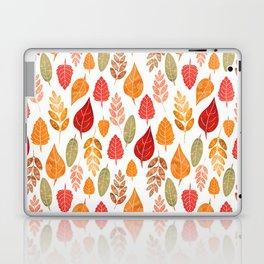 Painted Autumn Leaves Pattern Laptop & iPad Skin