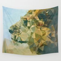 lion Wall Tapestries featuring Lion by Esco