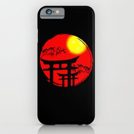 Japanese Sun Temple Japan iPhone Case