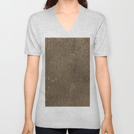 Rustic Tree Bark Pattern Unisex V-Neck
