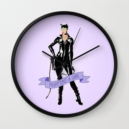 Fight Like a Girl: Catwoman Wall Clock