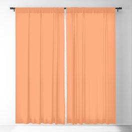 Apricot Peach Solid Color Blackout Curtain