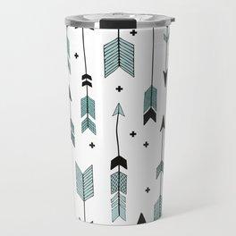 Blue arrows and crosses Travel Mug