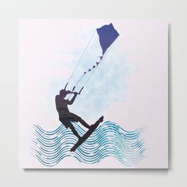 [mis]interpreting kiteboarding Metal Print