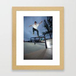 Zander Gabriel. Backside Crook  Framed Art Print