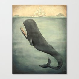 Leviathan Below Canvas Print