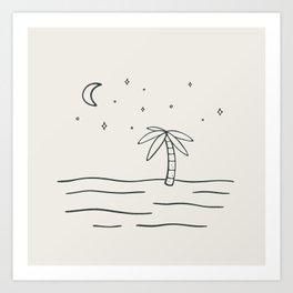 sand and stars Art Print