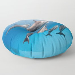 Dolphin Squad Floor Pillow
