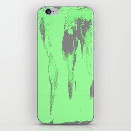World Map : Gall Peters Seafoam Green iPhone Skin
