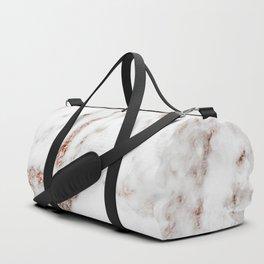 Rose gold foil marble Duffle Bag