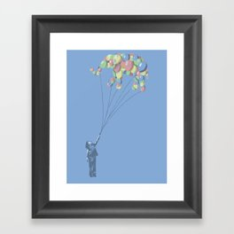 Elephants Can Fly Framed Art Print