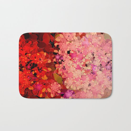 Two Different Worlds -- Floral Pattern Bath Mat