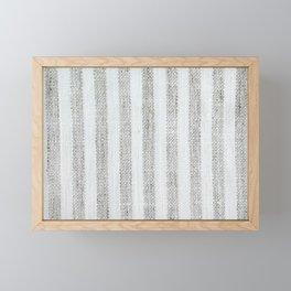Vintage French Farmhouse Stripy  Linen Framed Mini Art Print
