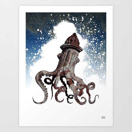 Street ∫ Animal Surrealism Art Print