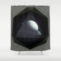 gem Shower Curtains featuring Dark Gem by DuckyB