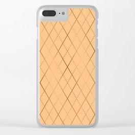 Argyle (Sand) Clear iPhone Case