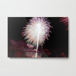 MV Fireworks: Spectators Metal Print