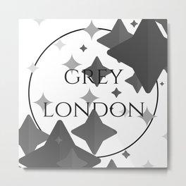 Grey London Metal Print