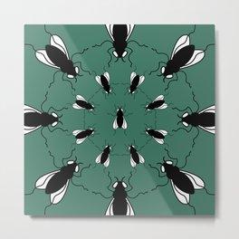I Spy Flies (Green) Metal Print