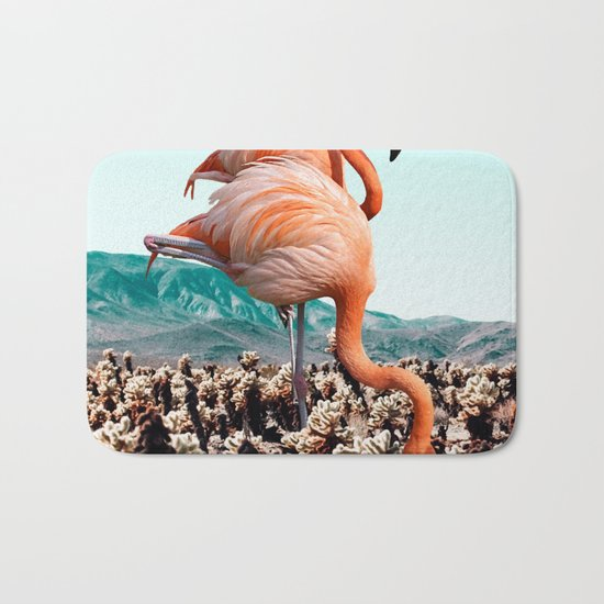 Flamingos In The Desert #society6 #artprints #flamingo Bath Mat