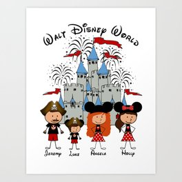 Family Castle Vacation ~  DO NOT PURCHASE THIS SAMPLE. SEE DESCRIPTION Art Print