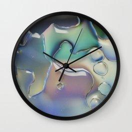 Pastel rainbow water pattern Wall Clock